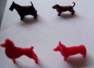 1969 + 1971  kelloggs cereal toys x 4 dogs