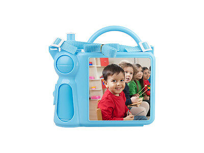 Personalized Children's Lunchbox with Water Bottle and Handle - Blue color
