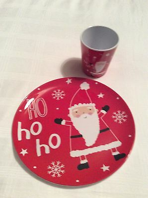 Children's Christmas Plate And Cup Set