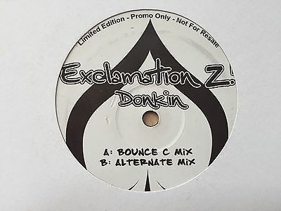 "Exclamation Z! Donkin Scouse House Bounce 12"" Record Vinyl"