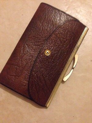 Ladies Old Vintage Purse  made Of sable calf leather