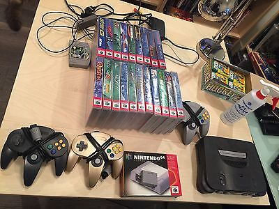 awesome Nintendo 64 lot 21 games 3 controllers