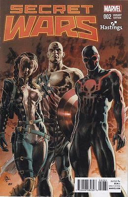 Marvel Secret Wars #2 Rare Mike Deodato Exclusive Hastings Variant NM/NM+