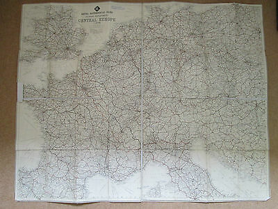 Old Linen Rac Central European Road Map In Hardbacked Case
