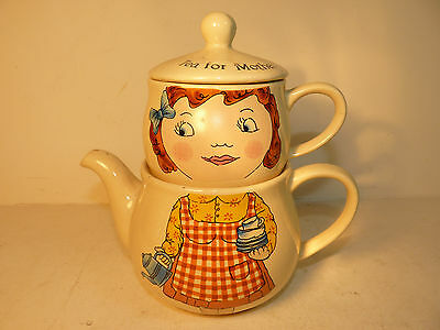 Vintage Teapot with Cup 'Tea For Mother'