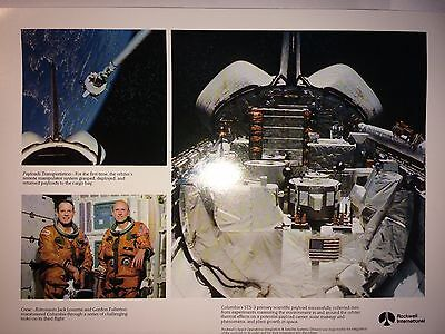 Fotodruck Rockwell International Space Shuttle Columbia STS-3 in Space