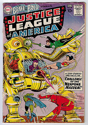 Brave And The Bold #29 1.8 2Nd Justice League Ow Pages Silver Age