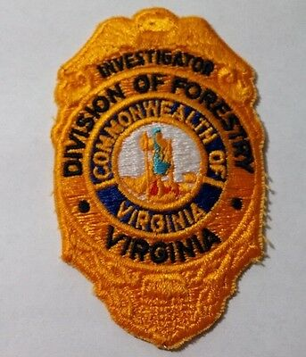 Investigator ~ Division Of Forestry ~ Commonwealth Of  Virginia ~ Sew On Patch