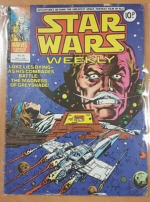 Star Wars Weekly ***ISSUE #39!!*** Marvel UK 1978 Comic Space Fantasy