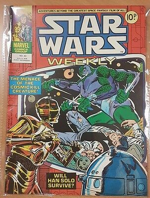 Star Wars Weekly ***ISSUE #40!!*** Marvel UK 1978 Comic Space Fantasy