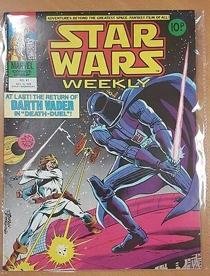 Star Wars Weekly ***ISSUE #41!!*** Marvel UK 1978 Comic Space Fantasy