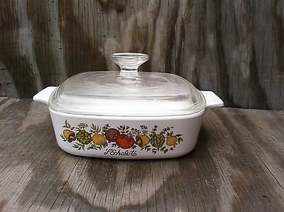 Corning Ware Spice O' Life 1 Quart Casserole Dish With A Clear Glass Lid