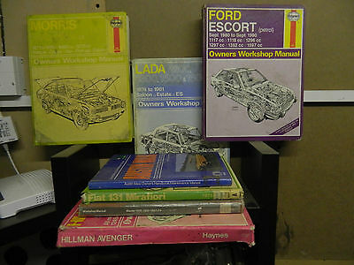 haynes owners workshop manuals x 4 + 3 others