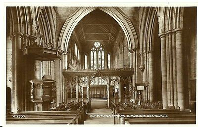 Dunblane Cathedral Pulpit And Screen C1960 Valentine Real Photo Postcard