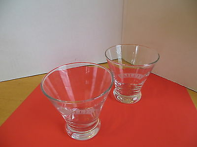 BAILEYS Tapered Etched  On the Rocks Glasses (Set Of  2) Barware Advertising l