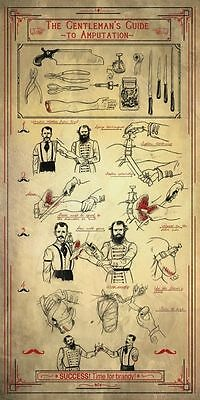 Vintage Style Poster – The Gentleman's Guide to Amputation (Medical Anatomy)