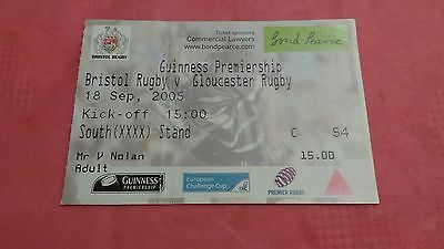 Bristol v Gloucester 2005 Used Rugby Ticket