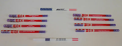 Set of 8 Camp David Museum American themed pens.  2 other American pens.