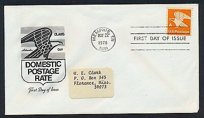UNITED STATES OF AMERICA 1978 FIRST DAY COVER USA FDC #a89 MEMPHIS CANCEL!