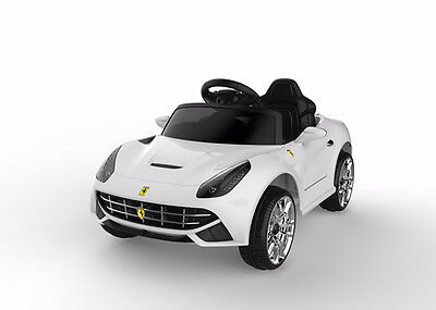 Brand New Kids Ride-On Toy Car Battery/remote Operated White Usb Music Warranty