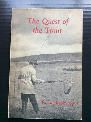 1946 The Quest For The Trout  R. L Blackwood Vintage Fly Fishing Book Melbourne