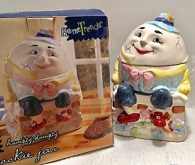 Vintage HUMPTY DUMPTY COOKIE JAR Bico China EXCELLENT in Original Box