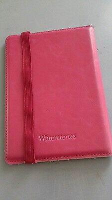 WATERSTONES LEATHER CASE FOR KINDLE PAPER WHITE G 2 - either black or pink