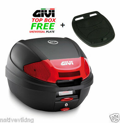GIVI E300N2 TOP BOX case Includes FREE Universal MONOLOCK Fitting Plate E 300 N2