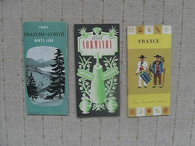 Three 1950's French Tourist Maps / Guides.