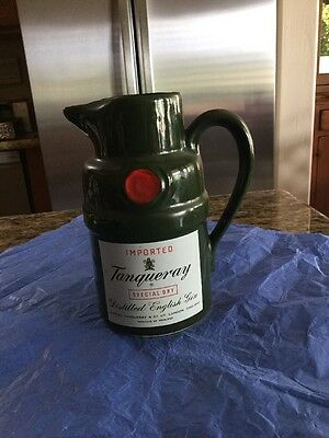 "Vintage Tanqueray Special Dry Gin Pub Whiskey Water Pitcher/jug 6-3/4"" Tall"