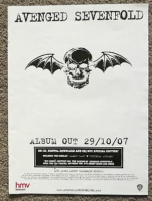 AVENGED SEVENFOLD - ALBUM 2007 full page UK press ad