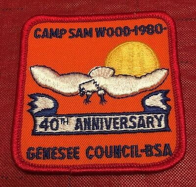 Camp Sam Wood Genesee Council Iroquois Trail New York 1980 Patch