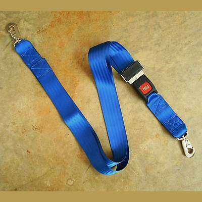 """Two Piece Spineboard Strap with Metal Buckle and Ends Blue Nylon 82"""" X 2"""""""