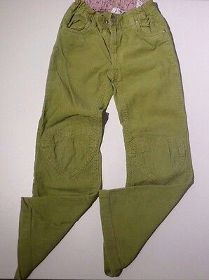 H & M - Lime Green Corduroy Trousers. Size 7-8 y old