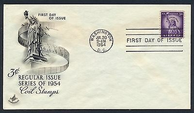 UNITED STATES OF AMERICA 1954 FIRST DAY COVER FDC USA #a300 WASHINGTON CANCEL!