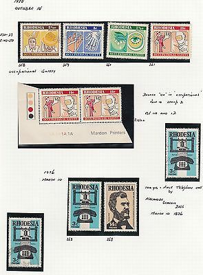 Rhodesia Ten Stamps FLAW Mint and Used