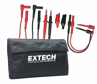 Extech Electronic Test Lead Kit Multi Meter Wires Connector Clamps Tool Tip Clip