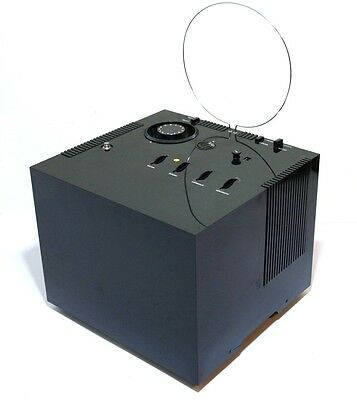 1969 Television Fernsehen Brionvega Black Cube St201 + Carrying Box Vintage