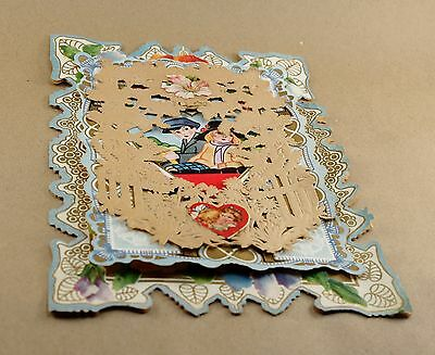 2 Vintage Valentines - Multi-layer Diecut with Boxes