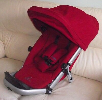 Quinny Buzz Xtra Red Rumour Seat Unit inc Strap Pads, Insert & XL Sun Canopy