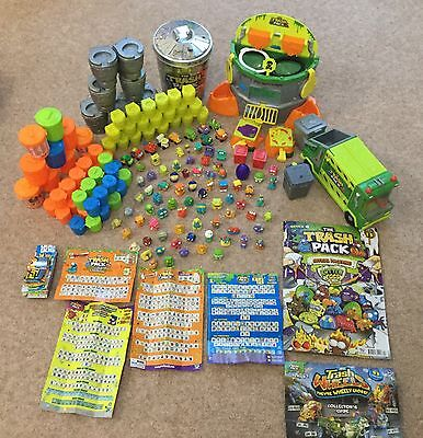 Large Trash Pack Bundle / Joblot x 82 includes Garbage Truck & Scum Drum