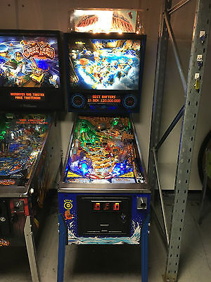 White Water Pinball Machine Restored Led Clear Coat Playfield New Display