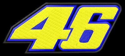46 Valentino Rossi  iron-on Aufnäher patch