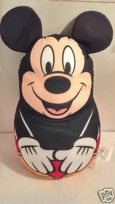 Disney Store Mickey Mouse Shaped Pillow with Tag