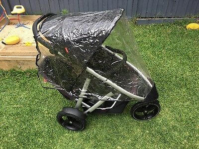 Phil And Teds Vibe Pram Rain Cover Double