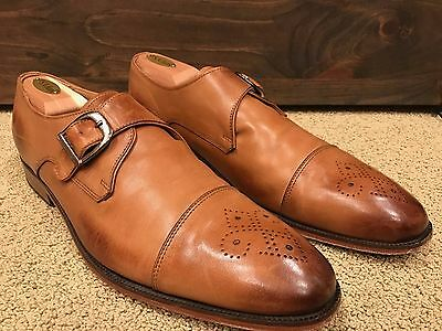 3dm Lifestyle Single Monk Buckle Captoe Shoes Size US 11 UK 10 Welted Tan