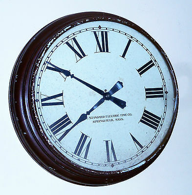 STANDARD ELECTRIC TIME Co COMMERCIAL SCHOOL HOUSE GALLERY WALL CLOCK SPRINGFIELD