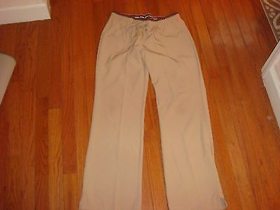 HEARTSOUL SIZE M tall KHAKI TAN SCRUB PANTS BOTTOMS