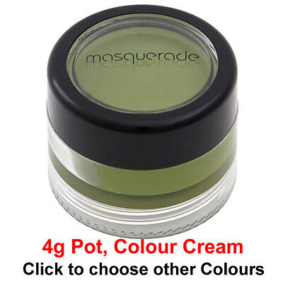 Body Paint, Colour Cream, 4g Pot, (Halloween & Zombie Walk Colours)