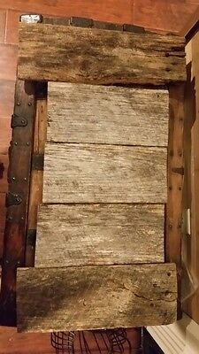 Rustic weathered barn wood slabs - Reclaimed Primitive wood 5 pcs